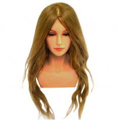 J03 有肩膀24吋超優質超長冠軍頭咖啡髮色(有睫毛款)