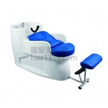 【沖水台】一體式沖水台/洗髮椅-藍白