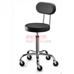 【營業剪髮椅】高級椅背時尚鍍鉻設計師椅-酷黑