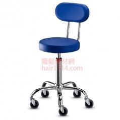【營業剪髮椅】高級椅背時尚鍍鉻設計師椅-亮藍