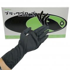 ZB2 韓國加長黑色乳膠手套 20入