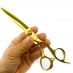 日本6.3吋 翼 金色剪刀/柳刃(乾溼剪兩用)
