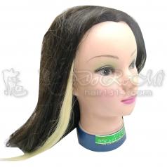 真髮髮束單片單扣式/已漂過