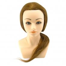 J01 有肩膀20吋#6 冠軍頭  加髮量 咖啡髮色/809 乙級包頭咖啡髮色(東方人臉)  新祕專用