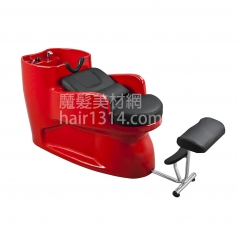 【沖水台】一體式沖水台/洗髮椅-黑紅