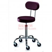【營業剪髮椅】高級椅背時尚鍍鉻設計師椅-深紫