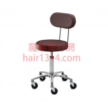 【營業剪髮椅】高級椅背時尚鍍鉻設計師椅-咖啡